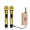 CAQ Best Selling Universal Dual UHF Wireless Microphone price 2 Mic System