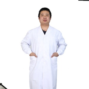 Hot sales TC 80/20, 65/35, 100% cotton medical nurse white lab doctor coat for hospital
