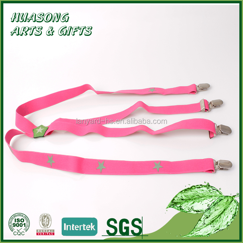 Custom cheap brace belt suspender elastic strap for pants