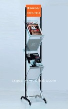 Flexible Newspaper and Magazine display stand