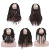 10a Cuticle Aligned Hair 360 Lace Frontal Kinky Straight , 20 Inch Brazilian Body Weave Human Hair 360 Frontal