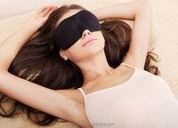 Good Quality 6 Colors Personalized Silk Soft Eye Sleeping Mask , Travel Rest 3D Eye shade cover Mask
