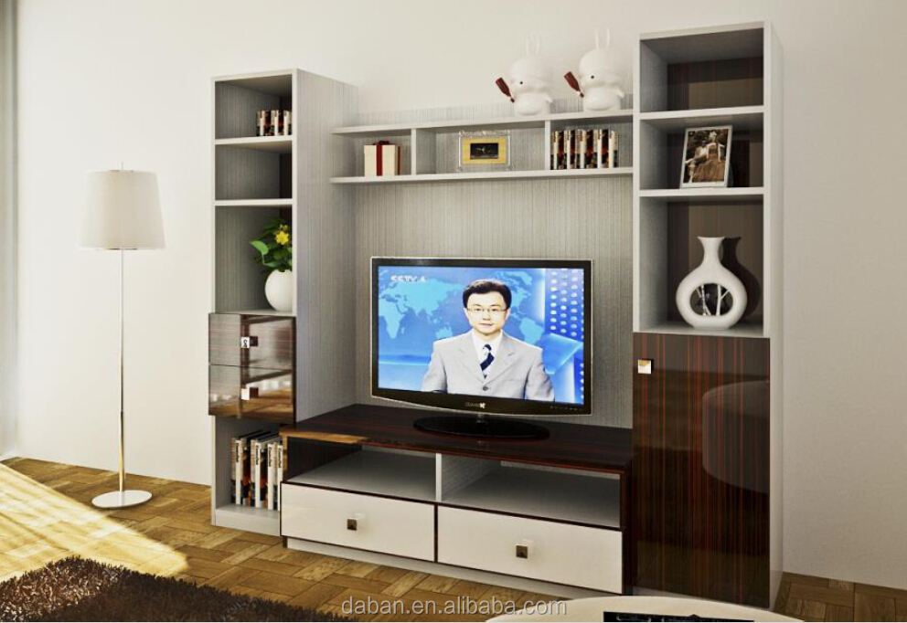 Modern Design Lcd Tv Cabinet Design With Showcase - Buy Tv ...