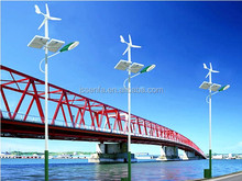 recycled wind turbine lights solar hybrid street light