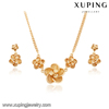 63952-Xuping New 18k Flower Model Fashion Necklace And Earring Jewelry Sets