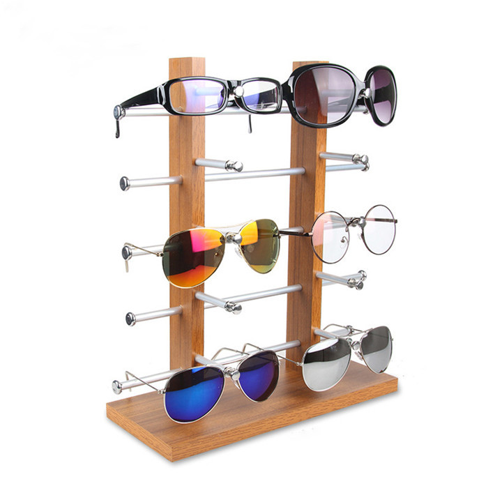 6dba6f9b64 Wholesale Wooden Optical Shop Decoration Spectacles Reading Glasses Display  Stand Rack Images