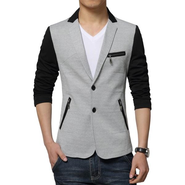 e6de71ba1a4b Get Quotations · 2015 Top Quality Casual Blazers Men Spring Fashion Suit  Jackets Size L-3XL Patchwork Man