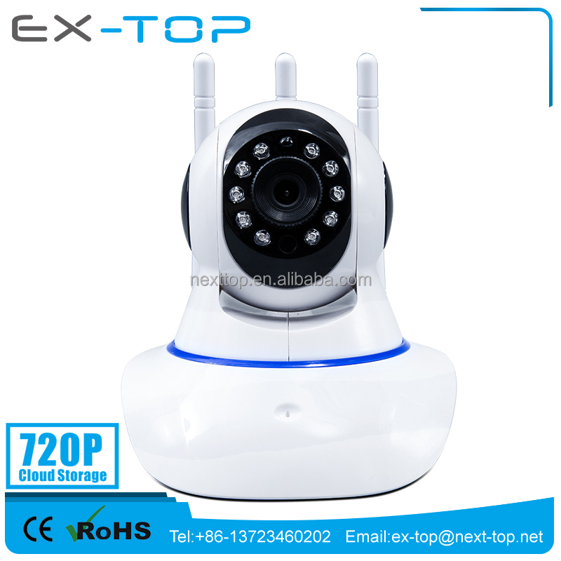 Cloud Storage 1MP WIFI P2P indoor IP Camera Free APP Software Download