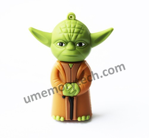 Cartoon usb star war Yoda warrior shaped cheap flash drive bulk
