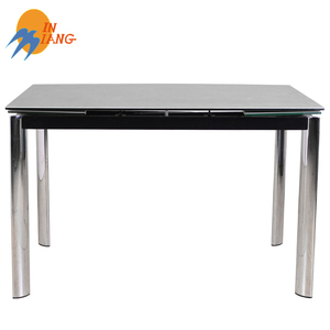 hign quality ceramic extending tempered glass dining table