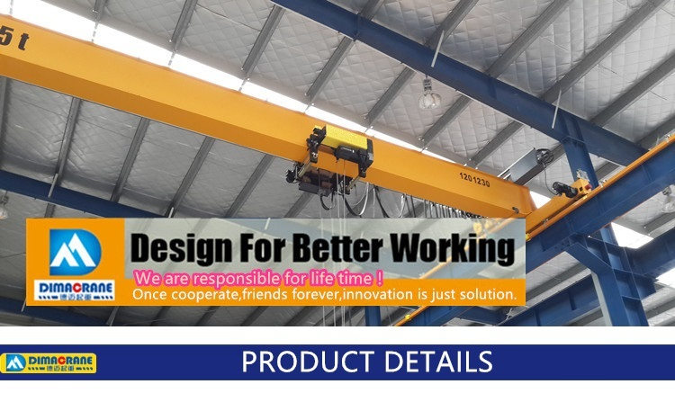 5ton single girder overhead crane remote controls