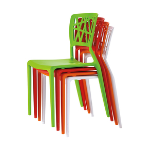 2018 new style fancy cheap pp plastic stackable dining chair for garden