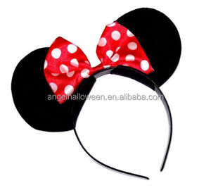 Girls plastic headband mouse Ears Nights Womens Party Fancy Dress headband BP2002