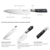 Professional 8inch Stainless Steel chef knife with Plastic Handle