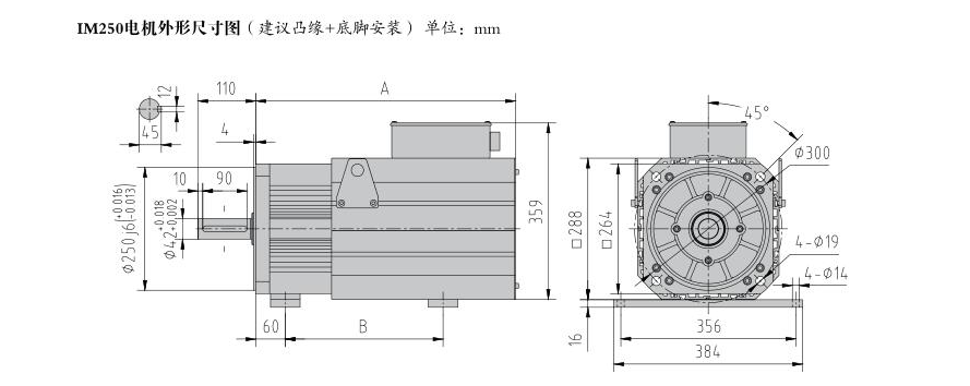 500W Three Phase Servo Motor