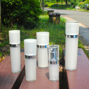 Professional production diverse styles exquisite workmanship cosmetic bottle round acrylic bottle