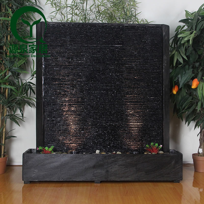Water curtain wall water fountain water features large