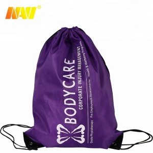 2019 Womens Sport Draw string Gym Bag Custom printed logo design drawing bag.