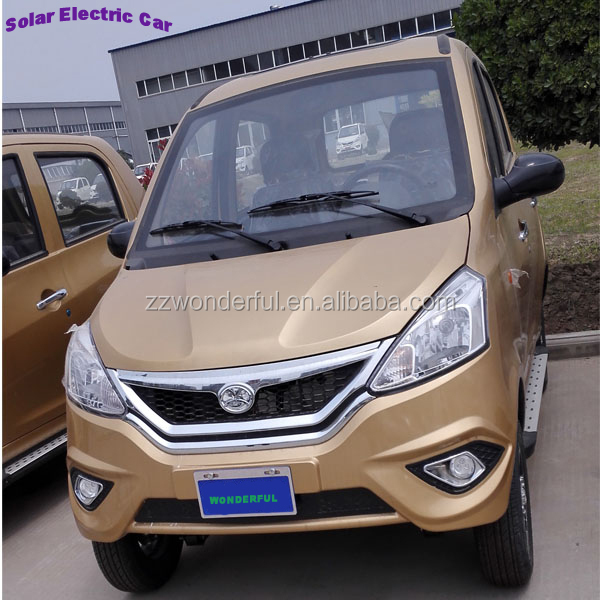 hot sale right hand drive mini solar powered electric car for passenger