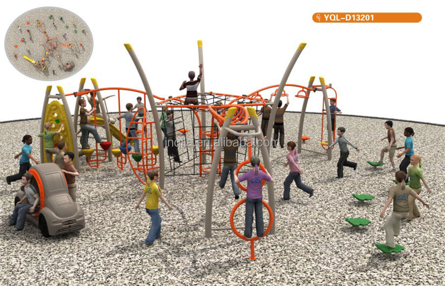 Teen amusement park playground fitness training equipment