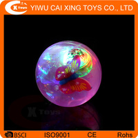 inflatable Kid's Toy Glitter LED Flashing Light-up Bouncing Ball