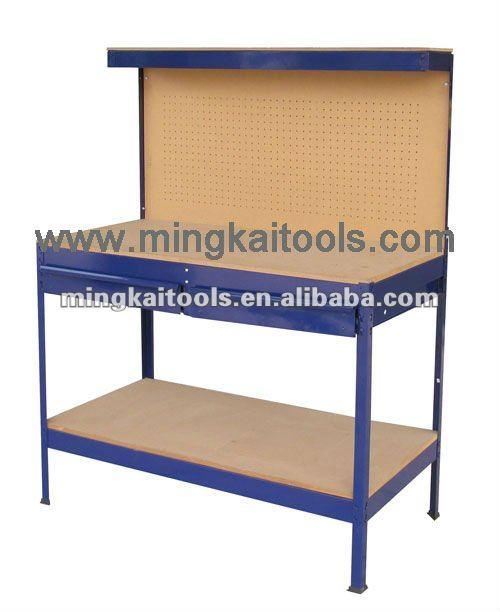 Acero para trabajo pesado grande mesa de trabajo mesa de for Papel pintado bricomart