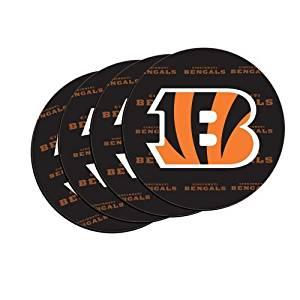 NFL Football Team Logo Neoprene Car Coasters (4) | Car Cup Holder Coasters - Set of 4