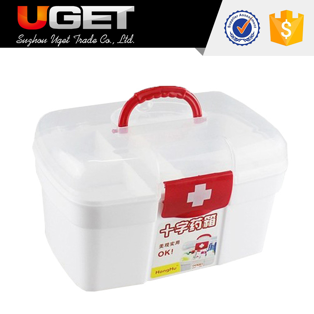 Snap closures design top quality rugged plastic storage box with lid handle