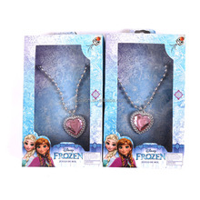 Hot Sale Heart Shaped Baby Gift Frozen Elsa and Anna Necklace Kids Ice Queen Bubblegum Necklace