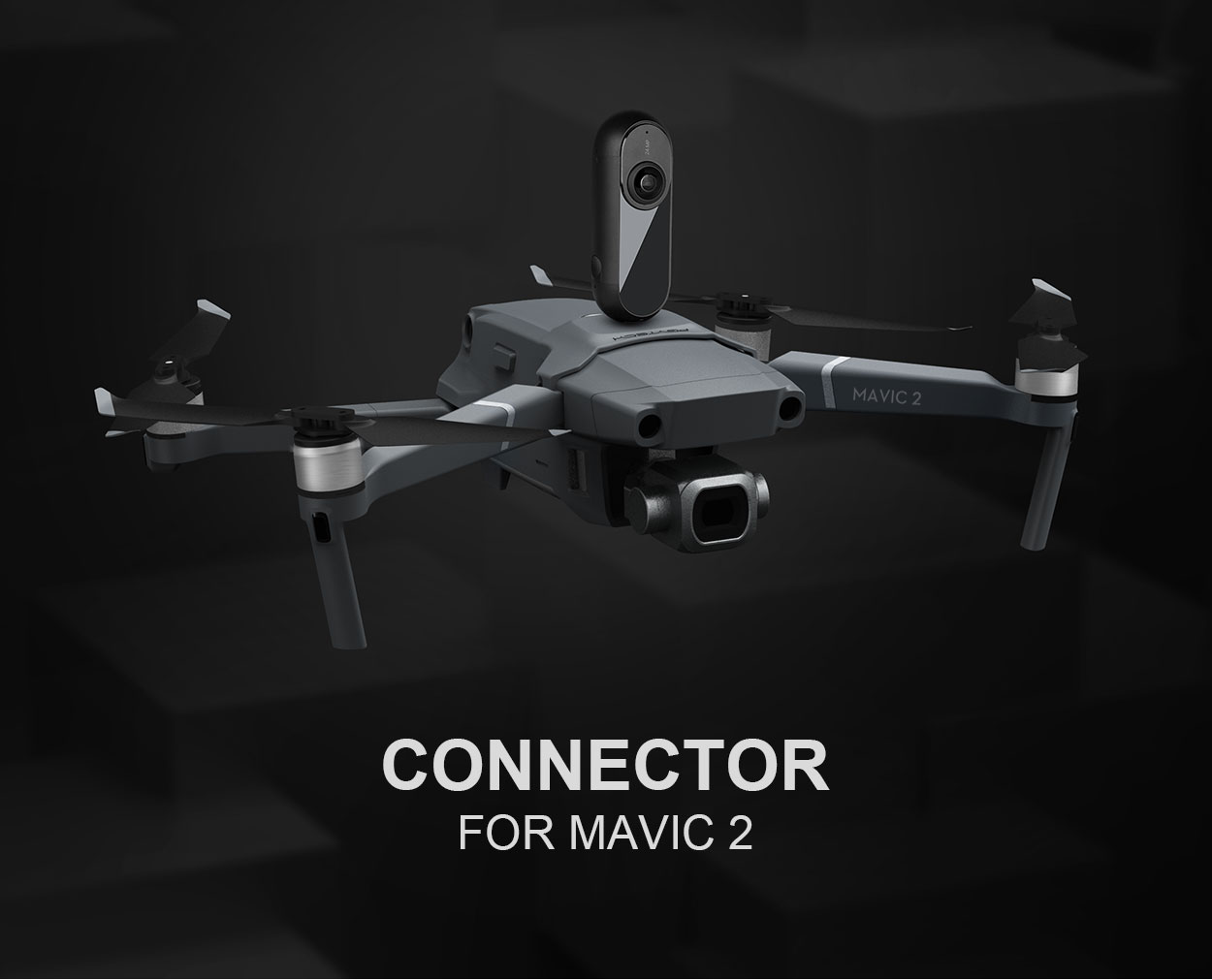 PGYTECH DJI Mavic 2 Pro/Zoom Connection Mount Adapter Connector For Sports action camera Mavic 2 Accessories