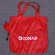 Custom Promotional Rose Shape Red Nylon Foldable Shopping Bag With LOGO
