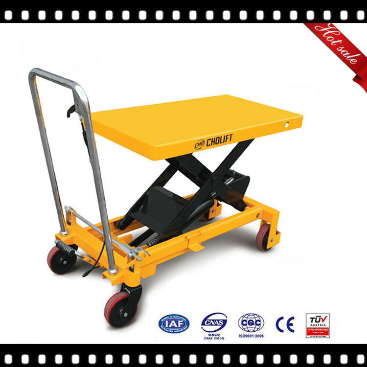 Mini Hydraulic Scissor Lift : Hydraulic manual hand mini scissor lift table buy