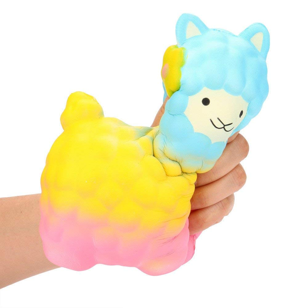USHOT Clearance Jumbo Sheep Squishy Cute Alpaca Super Slow Rising Scented Fun Animal Toys