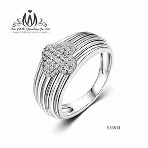 925 Sterling Silver Flower Shape Woman Thread Ring