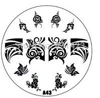 2015 new A Series A43 Nail Art Polish DIY Stamping Plates Image Templates Nail Stamp Stencil