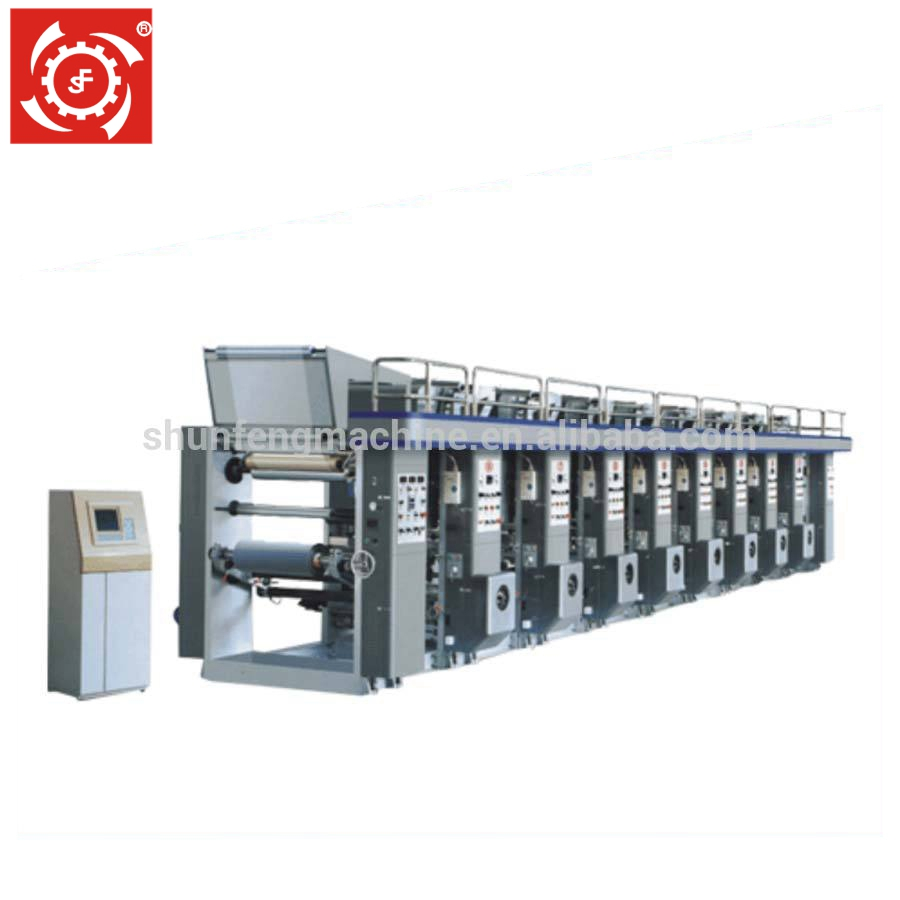 Hoge Speed Computerized Kleur Register Diepdruk Drukmachine