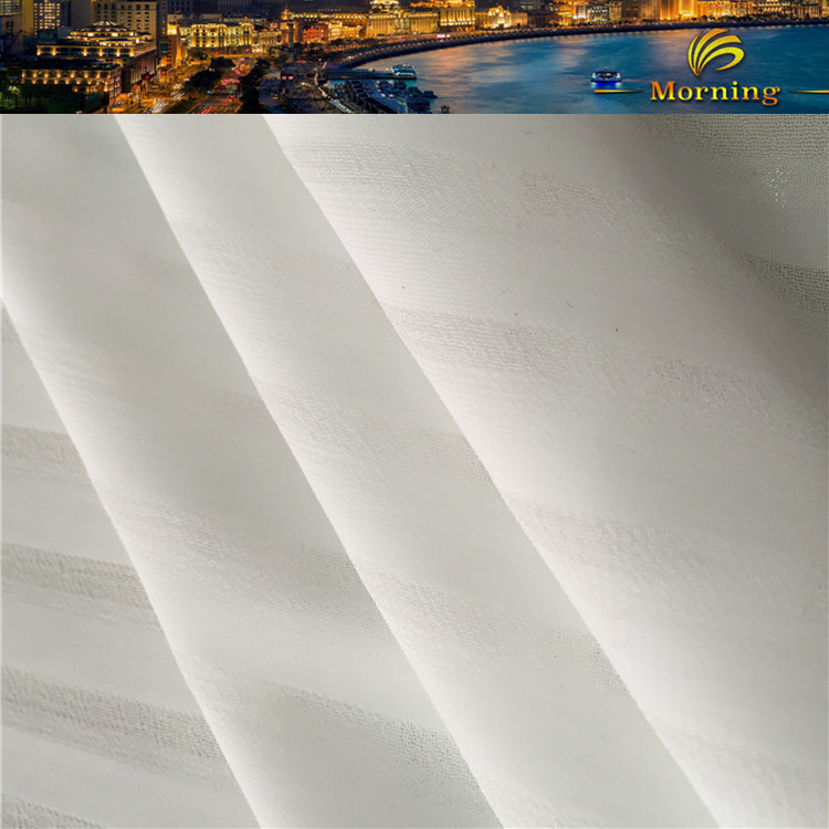 Stripe Chiffon Continuous Curtain Fabric For Boreal Europe Style