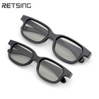 Theater style Black Circular Polarized 3D Plastic Glasses for Adults and Kids