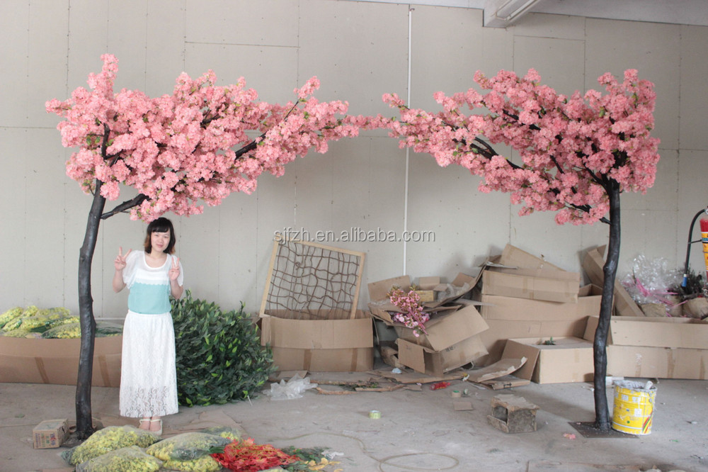 top quality silk indoor home decorative artificial cherry blossom