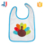 100% cotton custom logo embroidered gift baby bibs