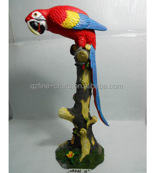Resin Parrot Bird Animal Statue For Garden Decoration Outdoor Polyresin Statues