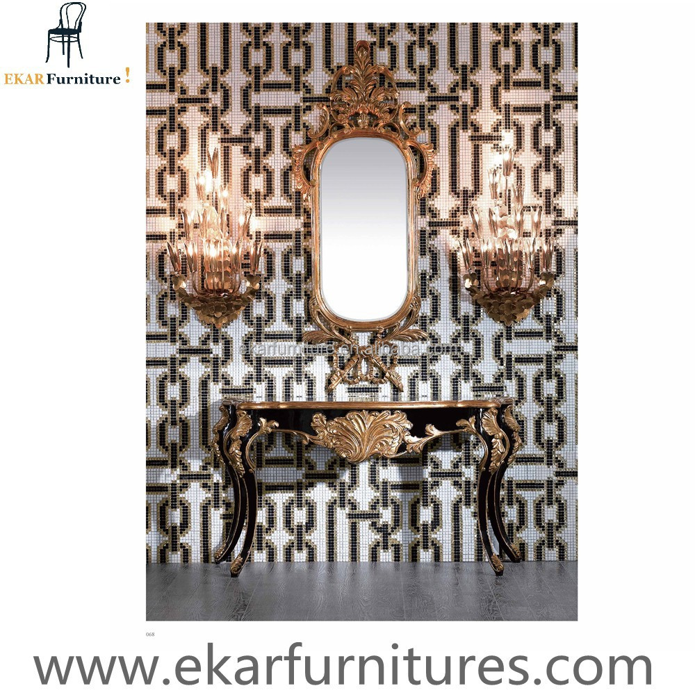 Empire Style Luxury Console Table With Mirror