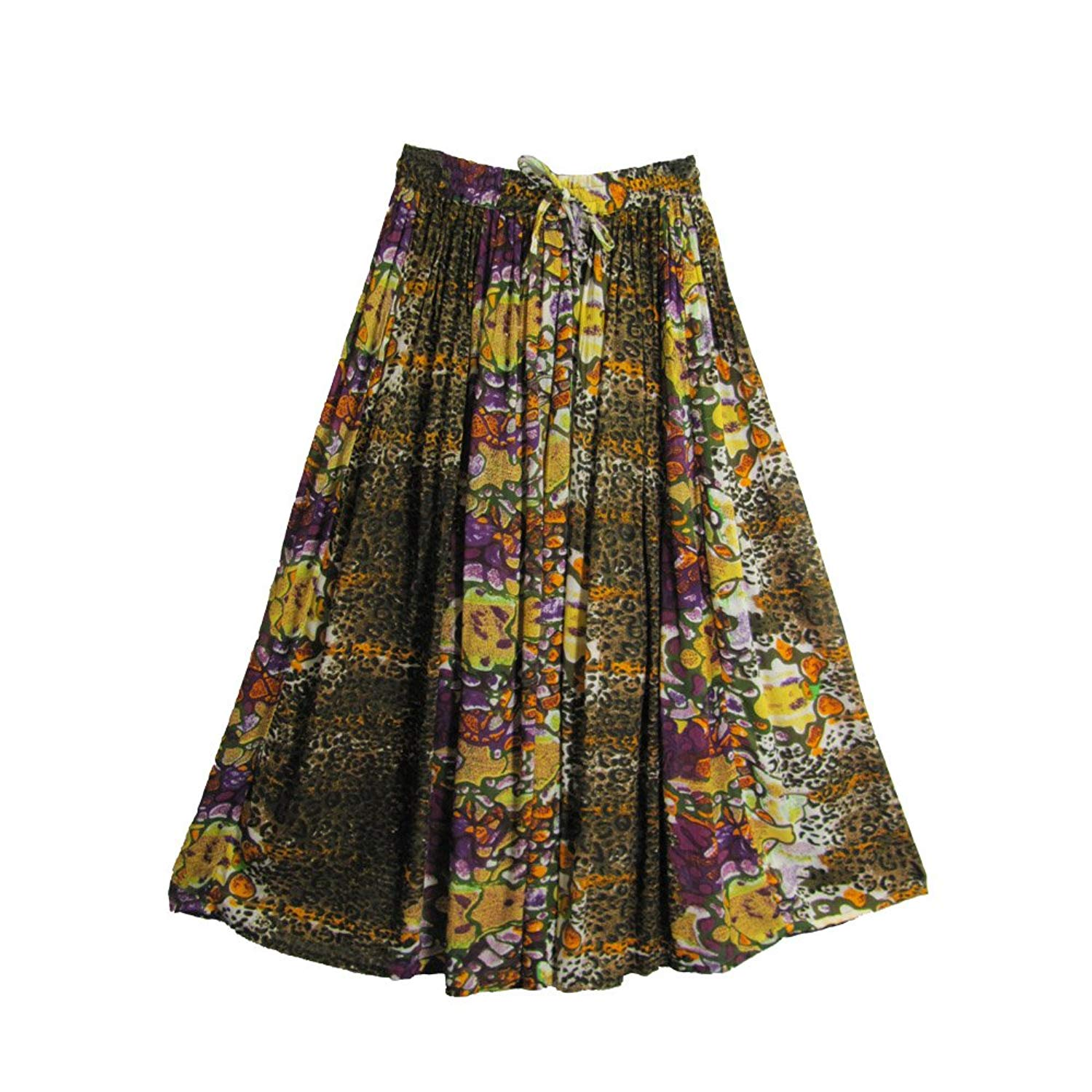 d33bb24da34 ... Missy Plus Bohemian Gauze Cotton Tiered Crinkled Broomstick Long Skirt  Ombre 39.0. Yoga Trendz Indian Purple Leopard Print Bohemian Crinkled  Broomstick ...