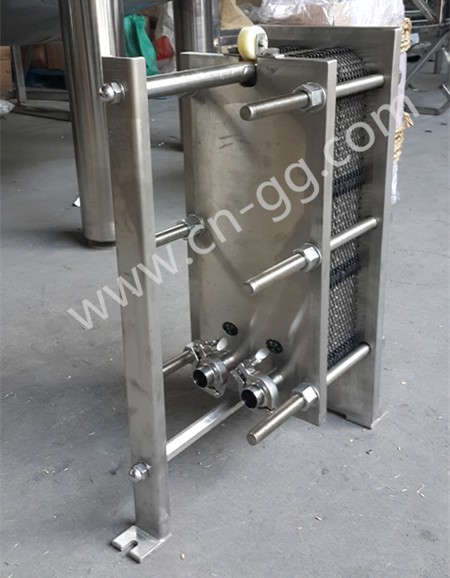 China stainless steel plate beer wort heat exchanger