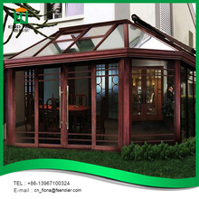 Home design high quality aluminum glass house patio sun rooms