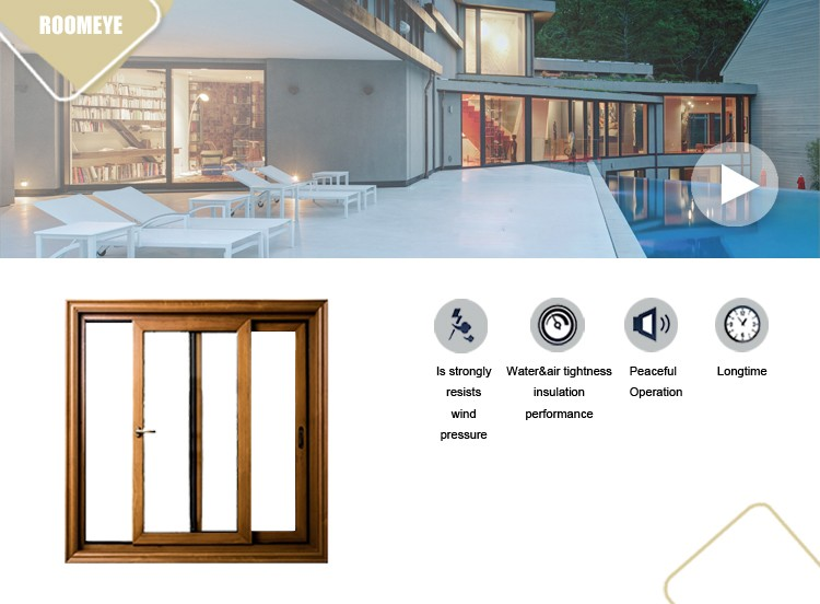 Slim system aluminum sliding door