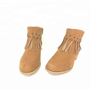 Hot selling ladies ankle boots wholesale TPR outsole material shoes for women