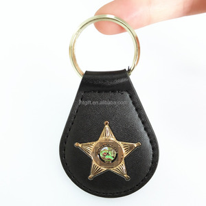 High quality buckle hanging coin leather holder car keychain for men