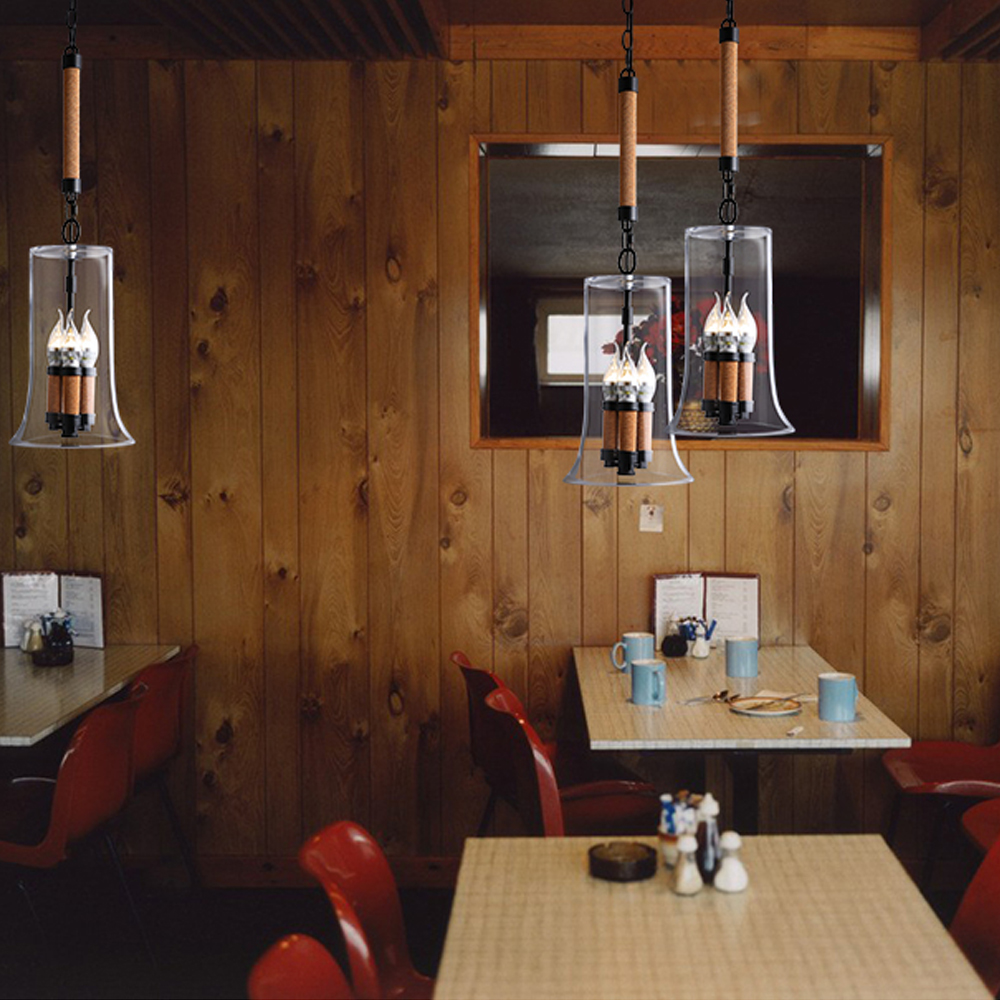lampadari stile industriale da parete : Moderne Luci A Sospensione Lampada a Sospensione in Stile Industriale ...