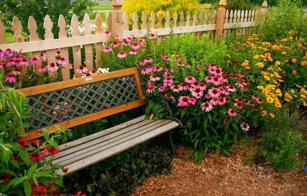 Cast Iron Antique Wooden Garden Bench